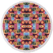 Synchronicity - A  T J O D 1 And 9 Arrangement Round Beach Towel