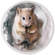 Syrian Hamster Round Beach Towel