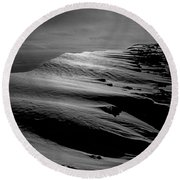 T-213312 Windblown Ice On Humphreys Peak Round Beach Towel