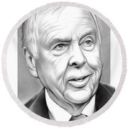T Boone Pickens Round Beach Towel