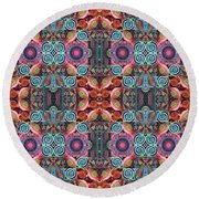 T J O D Mandala Series Puzzle 7 Arrangement 1 Multiplied Round Beach Towel