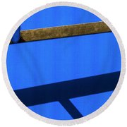 Round Beach Towel featuring the photograph T Point by Prakash Ghai