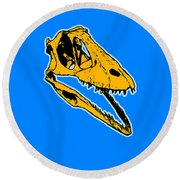 T-rex Graphic Round Beach Towel by Pixel  Chimp