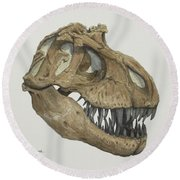 T. Rex Skull 2 Round Beach Towel