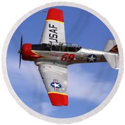 T6 At Reno Air Races Round Beach Towel