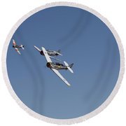 T6 Frenzy Over The Reno Desert Round Beach Towel