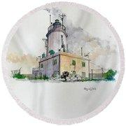 Ta' Giordan Lighthouse Round Beach Towel