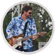 Tab Benoit And 1972 Fender Telecaster Round Beach Towel