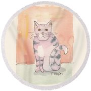 Tabby Round Beach Towel