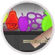 Round Beach Towel featuring the photograph Table Fruits by Tina M Wenger