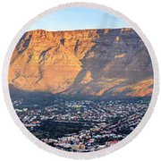 Round Beach Towel featuring the photograph Table Mountain by Alexey Stiop