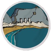 Table Mountain Round Beach Towel