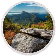Table Rock Fall Morning Round Beach Towel
