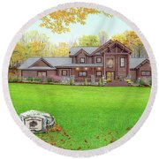 Taborton Lodge Round Beach Towel