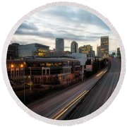 Tacoma Exit Here Round Beach Towel
