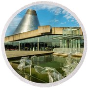 Tacoma's Museum Of Glass  Round Beach Towel