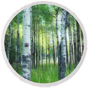 Tahoe Birch Round Beach Towel