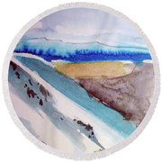 Tahoe City Round Beach Towel