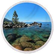Tahoe Northern Island  Round Beach Towel