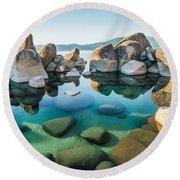 Tahoe Reflections Round Beach Towel