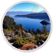 Tahoe Round Beach Towel