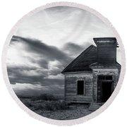 Taiban Presbyterian Church, New Mexico #3 Round Beach Towel