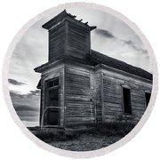 Taiban Presbyterian Church, New Mexico Round Beach Towel