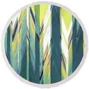 Taiga Forest Round Beach Towel by Ann Johndro-Collins