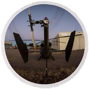 Round Beach Towel featuring the photograph Tailblade by Paul Job