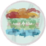 Take A Hike Appalachian Trail Round Beach Towel