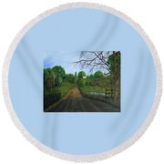 Take The Back Road Round Beach Towel