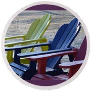 Round Beach Towel featuring the photograph Take Your Pick by John Glass