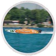 Talbot Offshore Racing Round Beach Towel