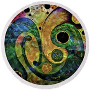 Tales Of The Past  Round Beach Towel