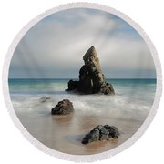 Tall And Proud On Sango Bay Round Beach Towel
