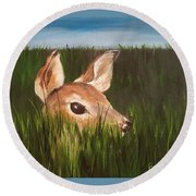Tall Grass    #63 Round Beach Towel