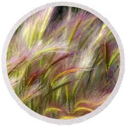 Tall Grass Round Beach Towel