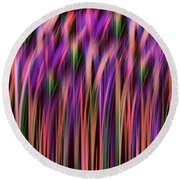 Round Beach Towel featuring the digital art Tall Grass by Zaira Dzhaubaeva