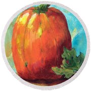 Tall Pumpkin Round Beach Towel
