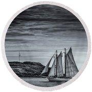 Tall Ships 2009 Round Beach Towel by Ken Morris