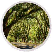 Tallahassee Canopy Road Round Beach Towel