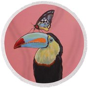 Talula The Toucan Round Beach Towel