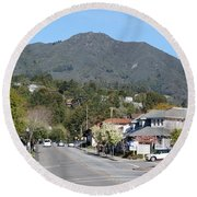 Tamalpais From Mill Valley Round Beach Towel