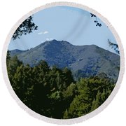 Tamalpais...the Sleeping Princess Round Beach Towel