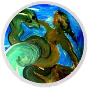 Taming Your Dragon Round Beach Towel