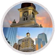 Tampa City Hall Building Built 1915 Round Beach Towel