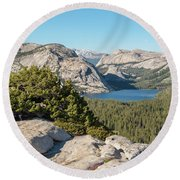 Tanaya Lake  Round Beach Towel