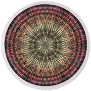 Tangendental Meditation Round Beach Towel