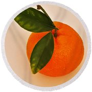 Round Beach Towel featuring the photograph Tangerine By Nature by Jasna Gopic