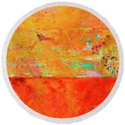 Round Beach Towel featuring the photograph Tangerine Dream by Skip Hunt